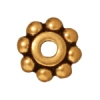 Spacer Heishi Beaded 6mm Antique Gold